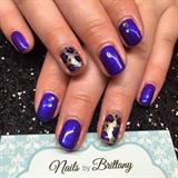Dark purple with leopard accent
