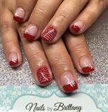 Red Christmas Carol Nails