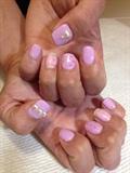Kawaii It's A Girl Nails