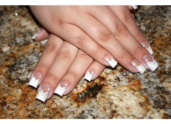 82 Airbrush French Nails Tip Practice The Airbrush Design Before