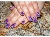 Airbrushed Purple Geometrics