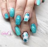 Aqua Snowflakes