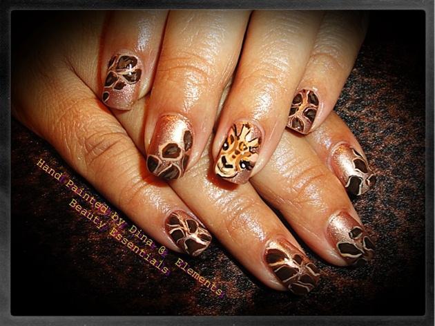 Tinas Giraffe Nails Nail Art Gallery
