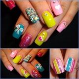 Niki Minaj OPI colors with art.