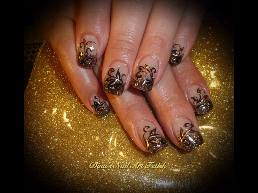 Fall Glitter Designs - Nail Art Gallery