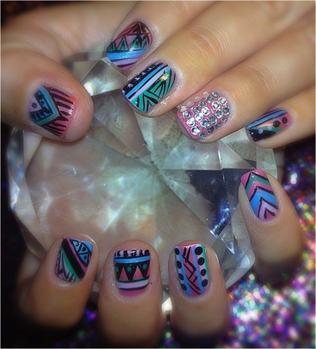 L.A vacation nails
