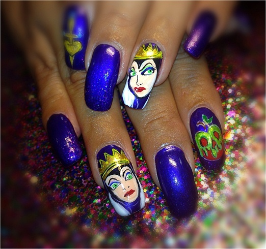 Hand Painted Evil Queen