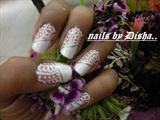 indian henna in white