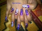purple one stroke flowers