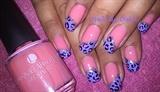 Leopard in pink n purple