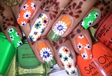 INDIAN INDEPENDENCE DAY nails...