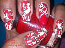 nail art: Ripped Flesh