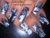 Halloween Haunted nail art