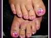 Pink and Purple Toes