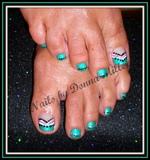 Turquoise Fun Toes