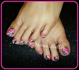Pink and Black Toes