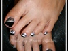 Black and Silver Toes