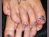 Zebra and Cheetah Combo Toes
