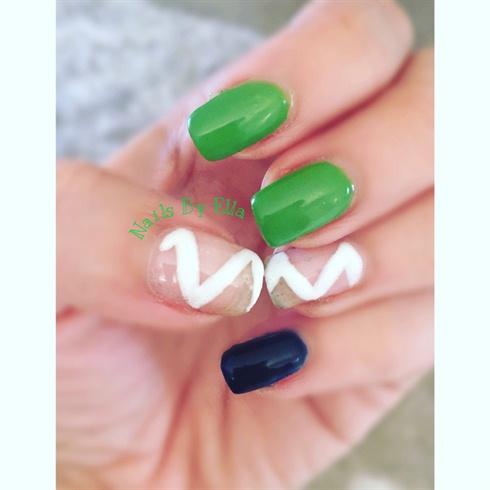 Green nails...  Gel nail polish