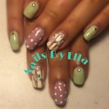 Gel nails...  Flower design