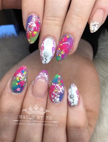 Mixed glitter design