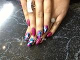 Dark Pink & Foil