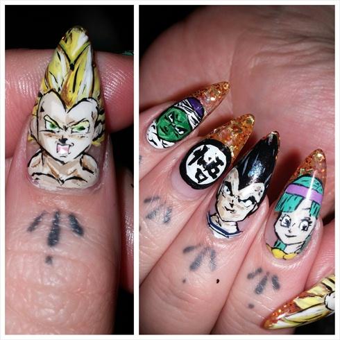 Dragon Ball Z nails