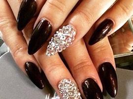 nail art: Sassy Bling