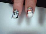 3-D snowman & woman