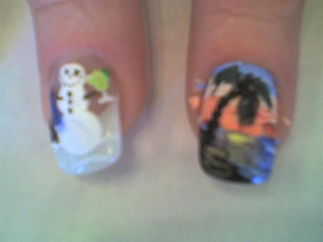 Margarita snowman & tropical sunset
