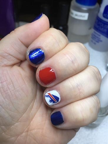 Buffalo Bills Dazzle Dry Manicure