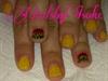 Reggae cheetah manicure