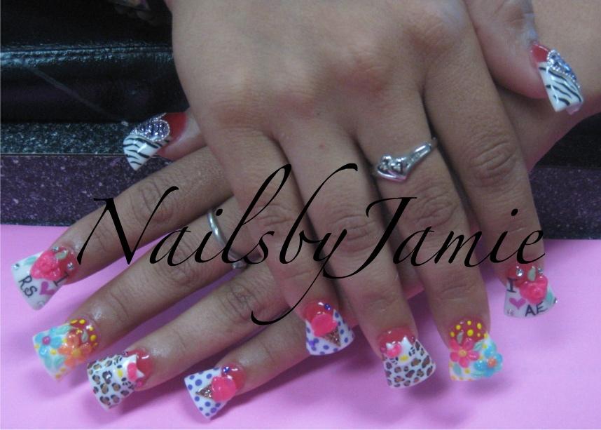 crazy duckfeet 3d nail art - Nail Art Gallery