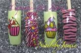 Cupcakes & Zebra Nail Art my favs.