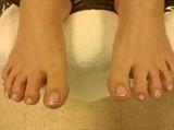 Zebra Flowered Toes
