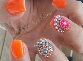 nail art: Orange Crush