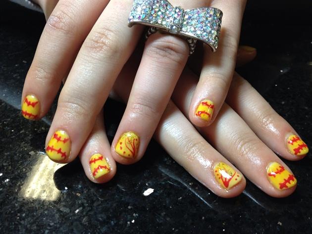Softball Nails Nail Art Gallery