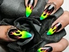 Rainbow Fire Nail Art