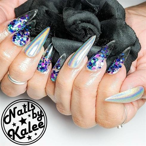 glitter glass nails