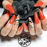 orange camo nails