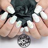 white mermaid nails