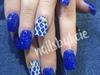 Mermaid skin nail art