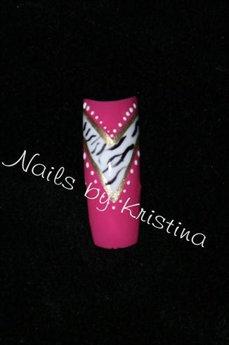 pink/zebra french