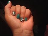 green w/ zebra