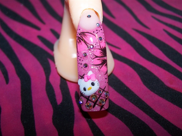 pink n black with hello kitty