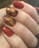 Tortoise Shell Gel Manicure