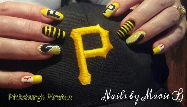 Pittsburgh pirates nails nail art gallery pittsburgh pirates nails prinsesfo Choice Image