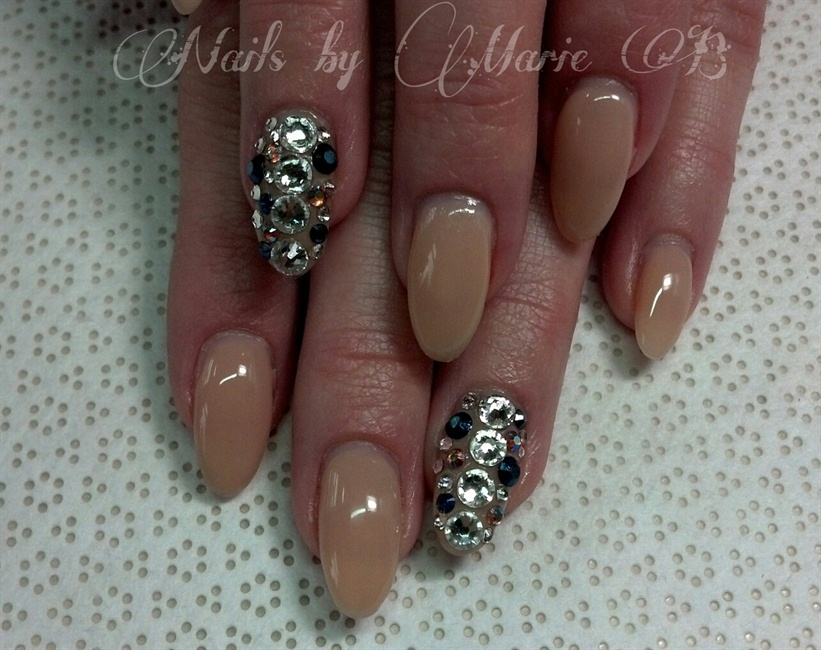 almond gel - Nail Art Gallery