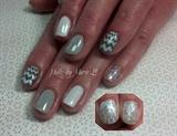 gray Chevron with sparkle