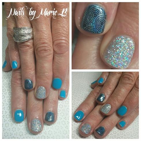 gel polish with glitter